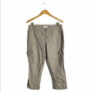 Banana Republic Martin fit cropped linen pants